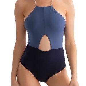 Tavik NWOT Lela One-Piece Swimsuit Coastal Blue M